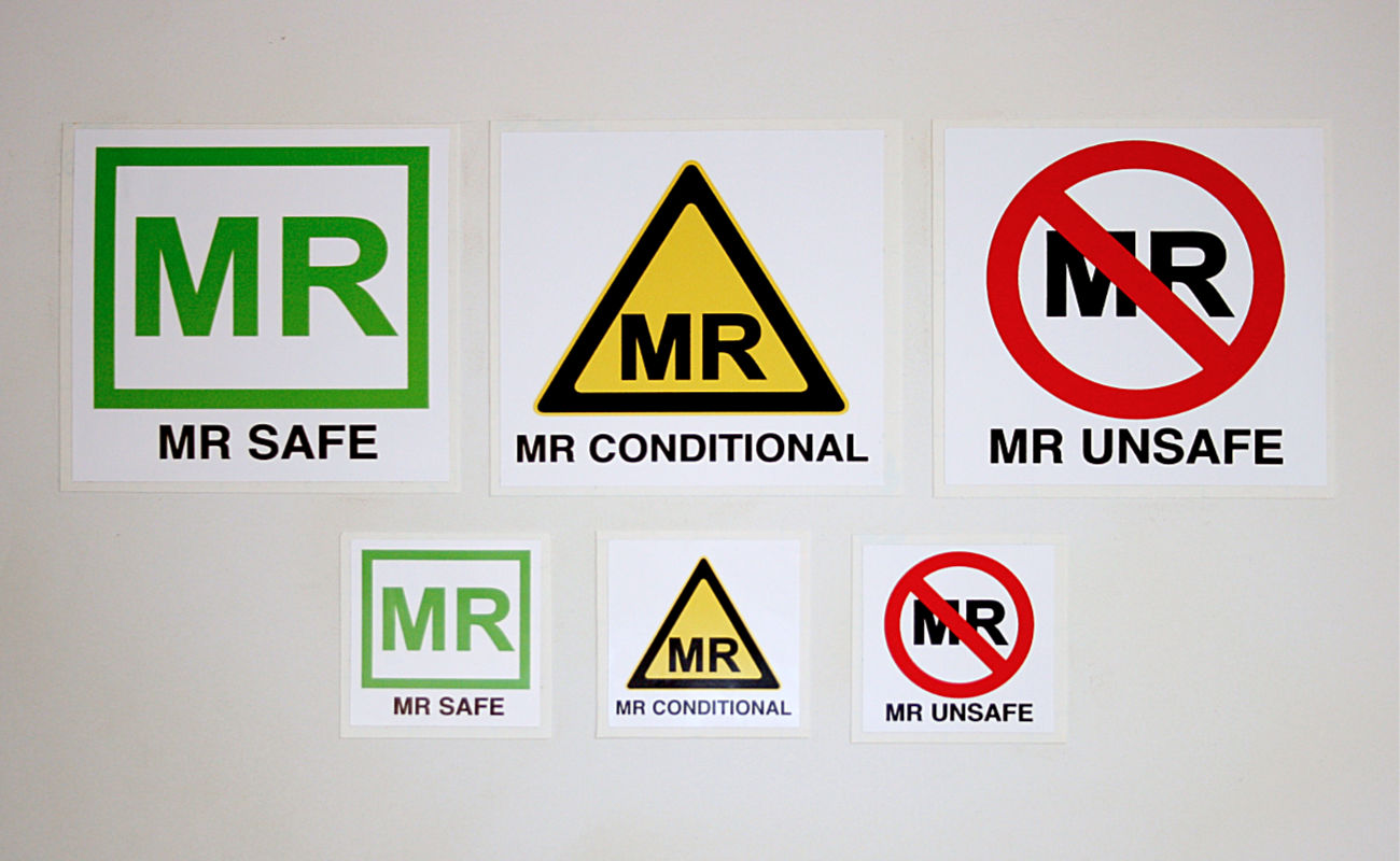 Picture 1 of MR Safe Labels