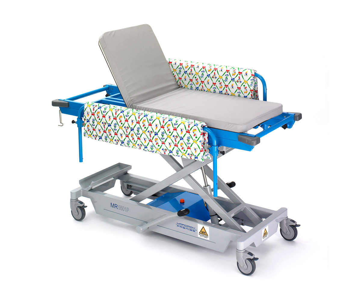 Picture 4 of Adjustable Height Paediatric Trolley