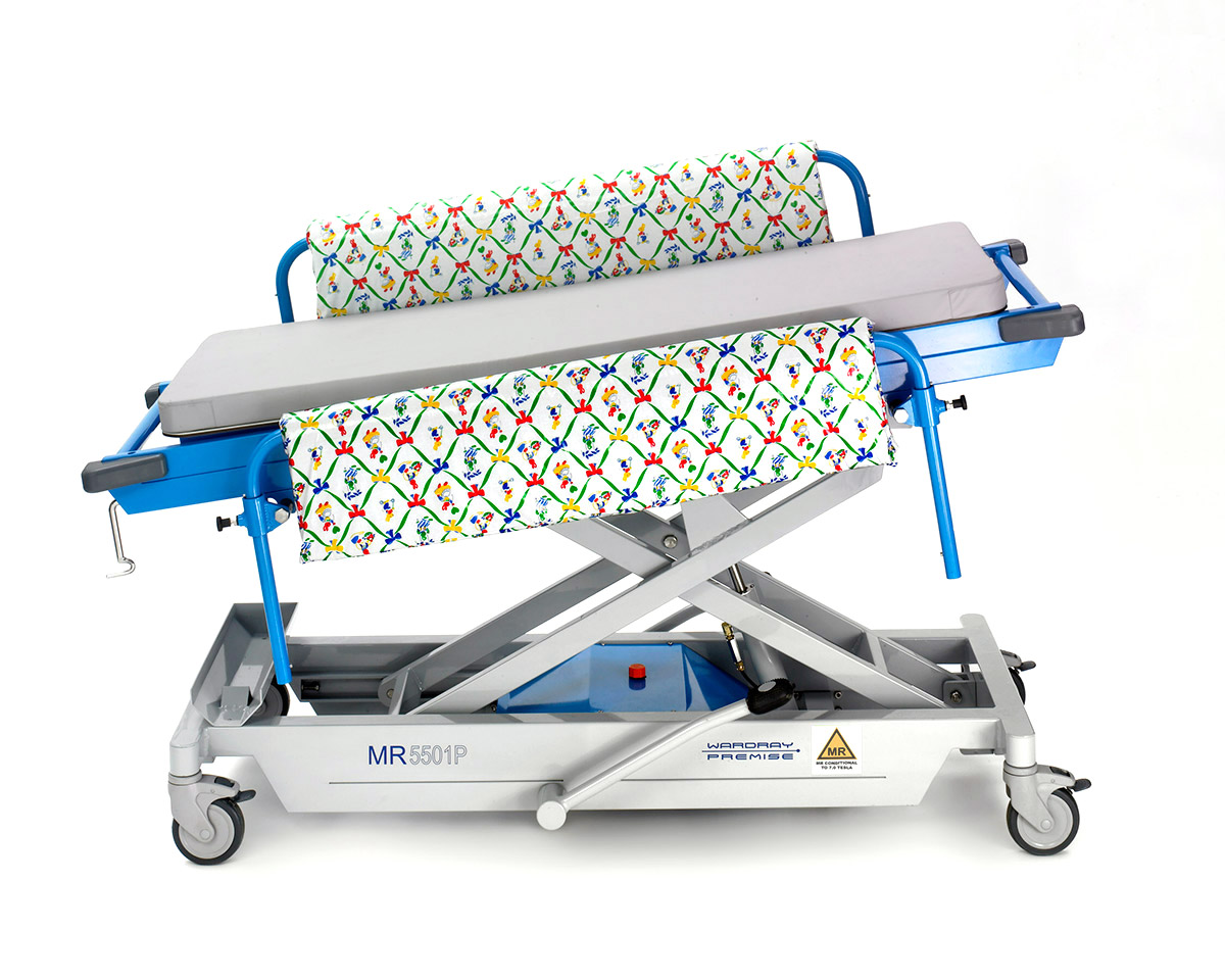 Picture 2 of Adjustable Height Paediatric Trolley