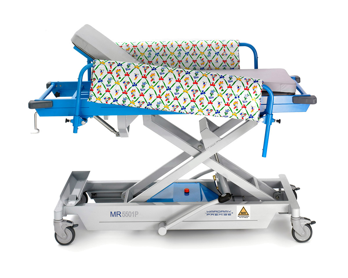 Picture 3 of Adjustable Height Paediatric Trolley