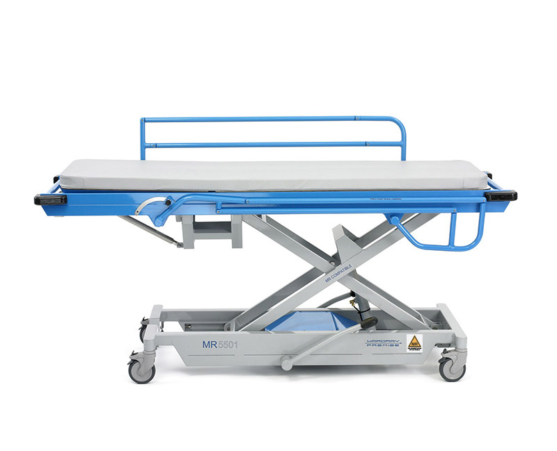 Picture 1 of Adjustable Height Patient Trolley