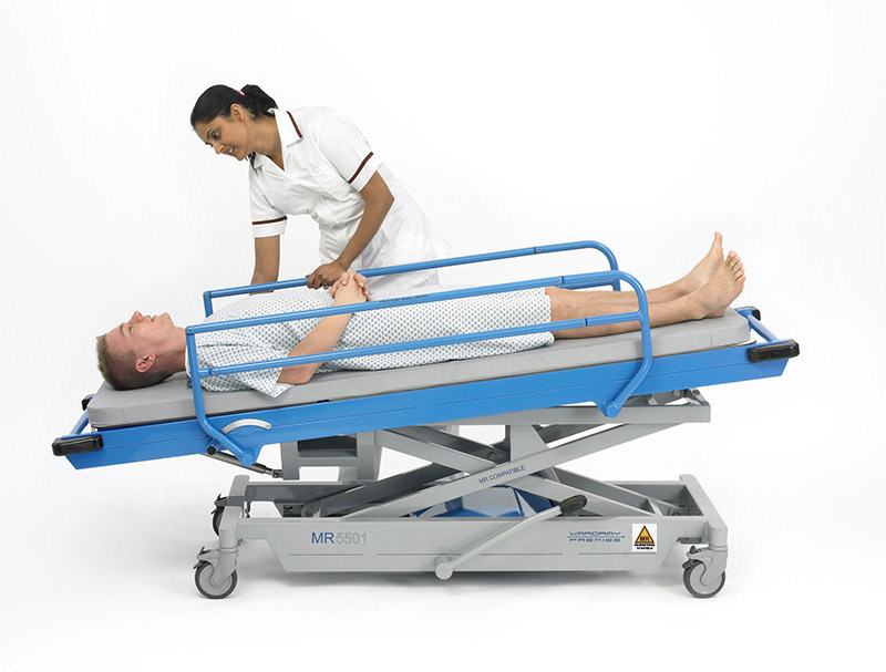 Picture 3 of Adjustable Height Patient Trolley