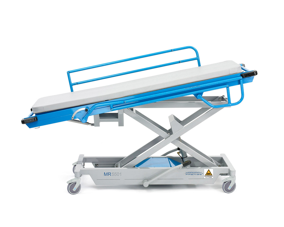 Picture 2 of Adjustable Height Patient Trolley