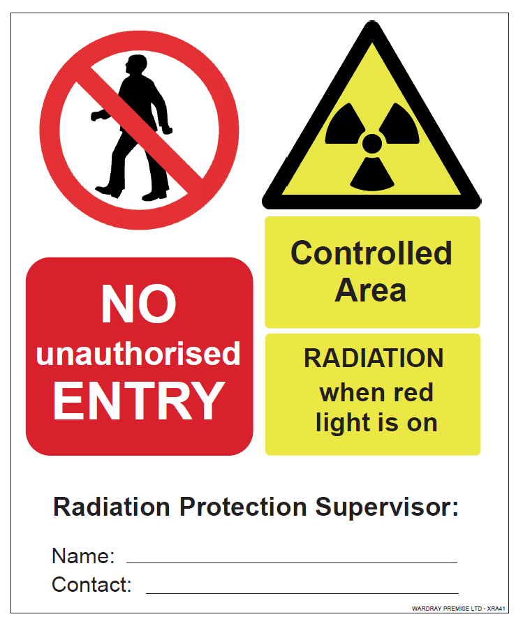 Picture 1 of Vinyl Warning Sign - Radiation