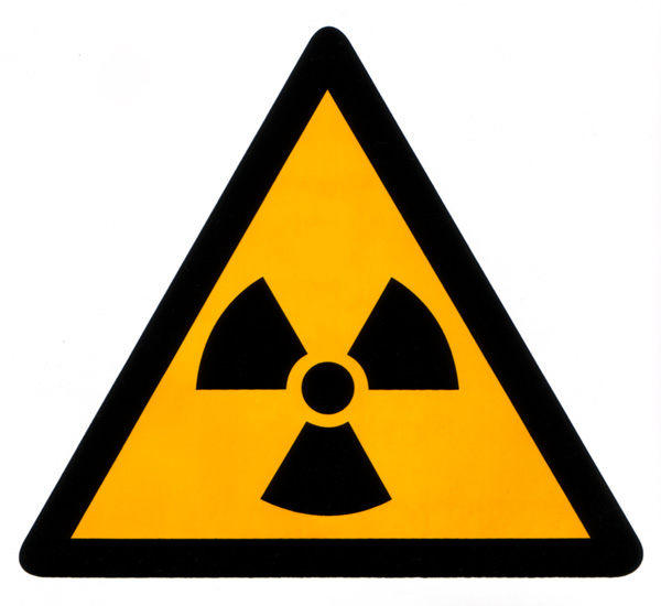 Picture 1 of Vinyl Warning Sign - Radiation Sign